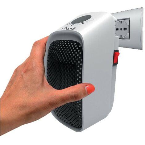 Chauffage d'appoint 400W Sur prise Céramique NIKLAS Programmable Thermostat réglable 15°32°C Arrêt automatique