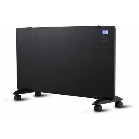 Chauffage de surface radiateur en verre convecteur ALU thermostat minuterie télécommande noir V-Tac 8664