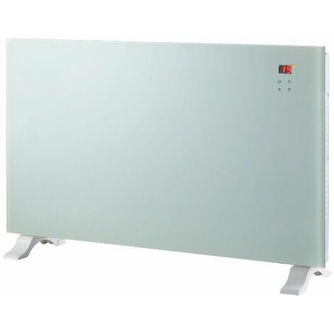 Chauffage décoratif design blanc avec écran LCD