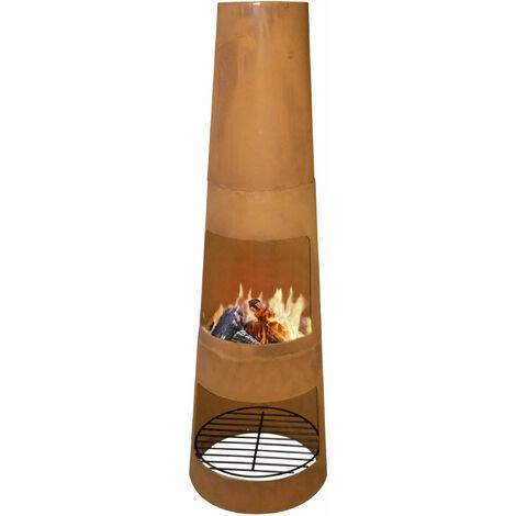 Chauffage d'extérieur en acier résistant à la corrosion avec protection du bois