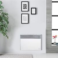 Chauffage Electrique Blanc Radiateur convecteur 1500 W avec Thermostat