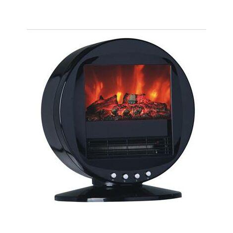 Chauffage electrique radiateur effet cheminée poele à bois 2000W