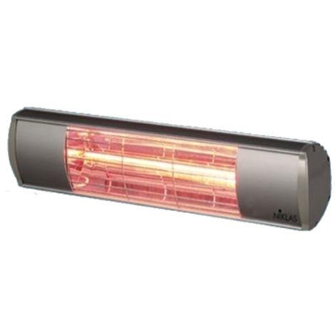 Chauffage infrarouge 1500W radiant mural ELLIOS NIKLAS intérieur et extérieur électrique 230V