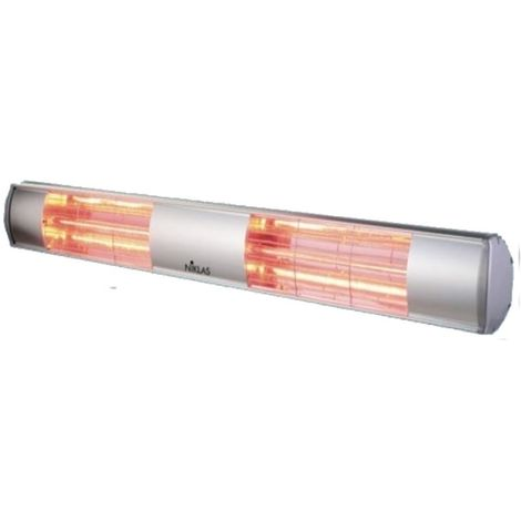 Chauffage infrarouge radiant mural 3000W ELLIOS NIKLAS intérieur et extérieur électrique 230V