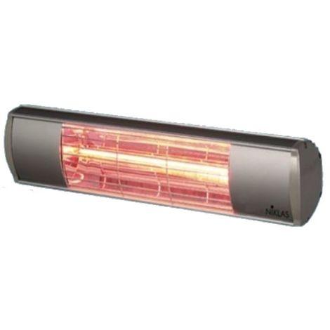 Chauffage infrarouge TERMO 1500W 230V, chaleur par rayonnement grâce aux rayons infrarouges - Argenté