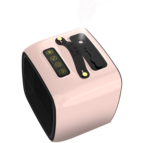 Chauffage multifonctionnel portable aeconomie d'energie avec humidification reguliere, pulverisation, sourdine, telecommande, chauffage adouble usage, EU 220V