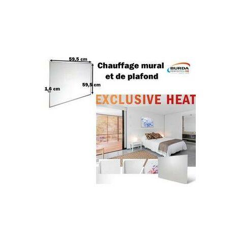 Chauffage mural EXCLUSIVE HEAT,300W, blanc/ Chauffage électrique BURDA - BHPEH6060300.