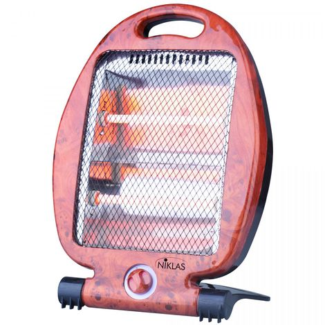 Chauffage d'appoint Quartz 800W Niklas 2 niveaux de chauffe Sécurité anti basculement