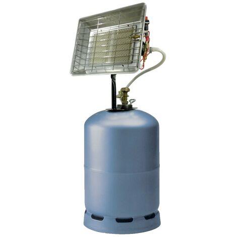 Chauffage radiant gaz 4,2kW Allumage piezo Usage intérieur Exterieur Sécurité Thermocouple Détendeur réglable Butane/propane