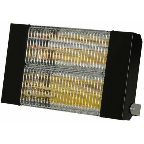 Chauffage radiant infrarouge electrique ipx5 - 1500 w 470 x135 epoxy noir