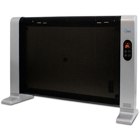 Chauffage rayonnant à infrarouges Heat Wave Style 1500 LCD - max. 45 m³ (19 m²) - chaleur agréable + climat sain- max. 1500 watts
