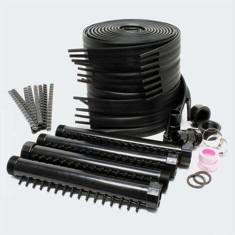 Chauffage Solaire Pour Piscines, Prévu Pour Piscines De 5 à 10 m3, Noir - Noir