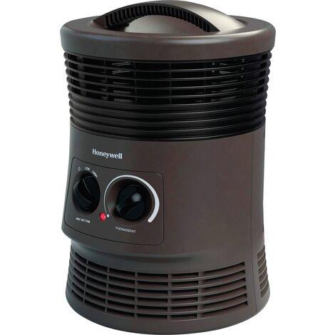 Chauffage soufflant Kaz - Souffle à 360° - Facile à transporter - Thermostat réglable - 750 à 1500 W - Noir
