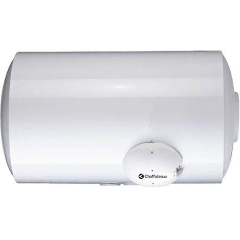 Chauffe-eau électrique 100l horizontal blindé raccord bas Ø 560mm L 750mm 2000W mono 230V CHAFFOTEAUX 3000370