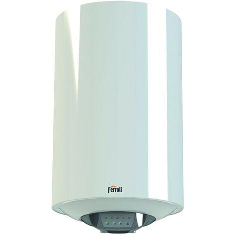 Chauffe-eau électrique à accumulation Ferroli Titano Smart à haut rendement capacité de 50 litres | Blanc