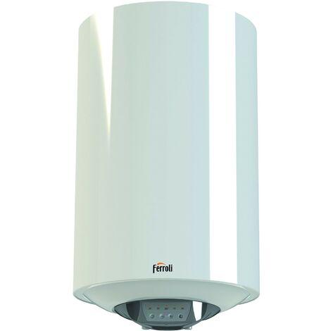 Chauffe-eau électrique à accumulation Ferroli Titano Smart à haut rendement capacité de 80 litres | Blanc