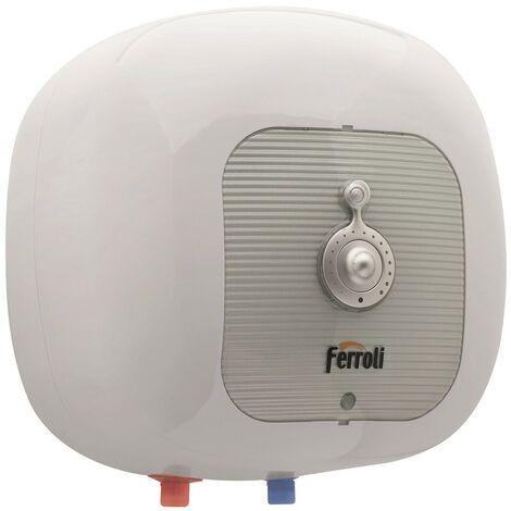 Chauffe-eau électrique Ferroli Cubo SG avec trop-plein 30 Litres | Blanc