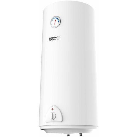 Chauffe-eau électrique réservoir en silicone 100 litres puissance 1500W thermostat à 75 °C - Noir