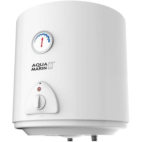 Chauffe-eau électrique réservoir en silicone 30 litres Puissance 1500W thermostat à 75 °C - Noir