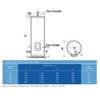 Chauffe-eau électrique Vertical sur socle VIZENGO