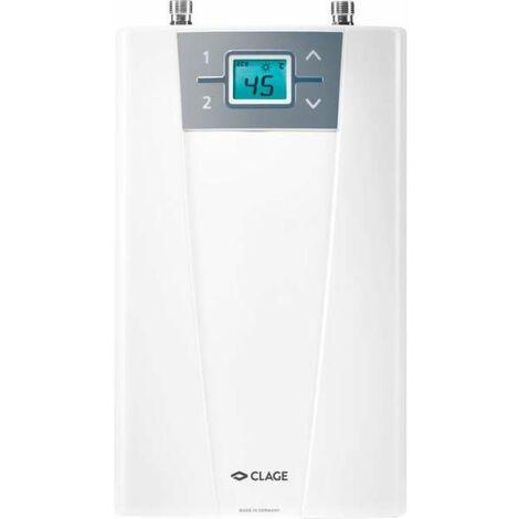 Chauffe-eau instantané électrique compact CEX9-U CLAGE - Sous-évier - Raccord par le haut - Clage
