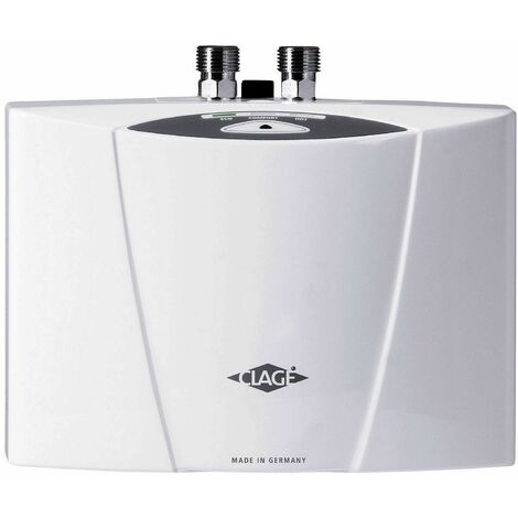 Chauffe-eau électronique instantané SMARTRONIC à commande électronique pour lavabo ou évier - MCX 4 - Débit 2,5 l/min. Puissance : 4,4 kW - 230 Volt - 19 A, avec câble - MONO