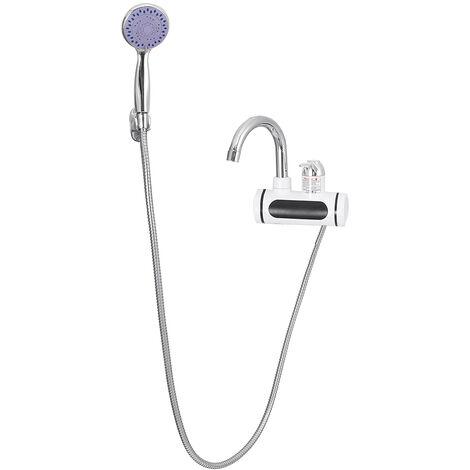 Chauffe-eau instantané de robinet électrique 3000W 360 ° (avec pomme de douche)