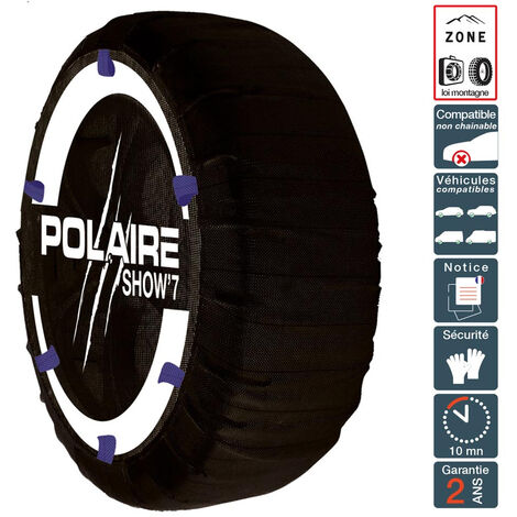Chaussette chaine neige textile pneu 185/50R16 haute résistance