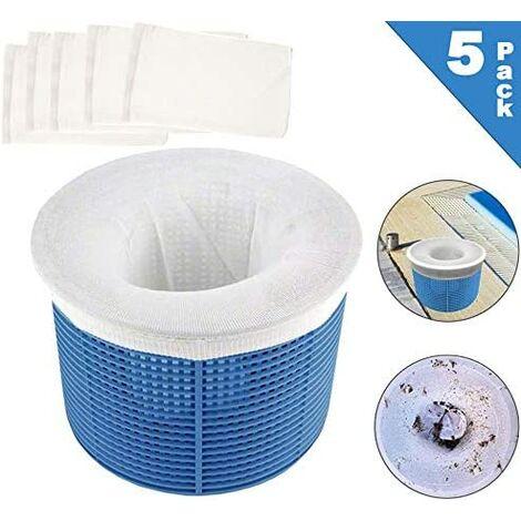 Chaussette filtrante Piscine,Chaussettes de Skimmer de Piscine,Panier filtrant Piscine,Pool Skimmer Socks,Panier d'écumoire de Piscine (5)