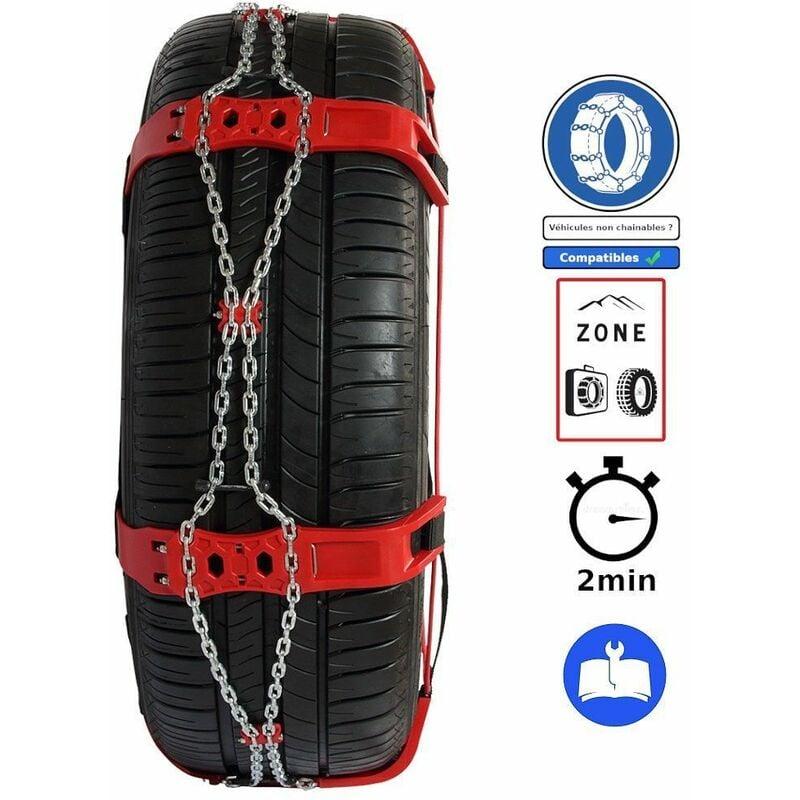 Chaussette neige métallique pneu 215/65R17 225/55R19 235/55R18 Steel Sock - POLAIRE