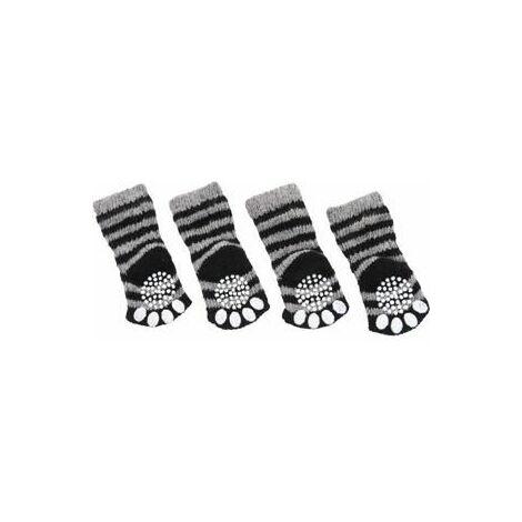 """main image of """"Les chaussettes pour animaux offrent une prise sûre sur les surfaces lisses et rayées disponibles en plusieurs options."""""""