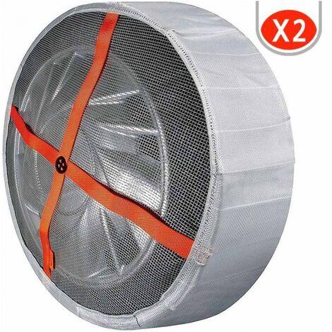Chaussettes à neige textile voiture 165/60R15 Autosock homologuées B26 - Gris