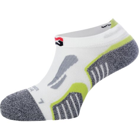 """main image of """"Chaussettes sneakers de travail Würth MODYF blanches/vertes"""""""