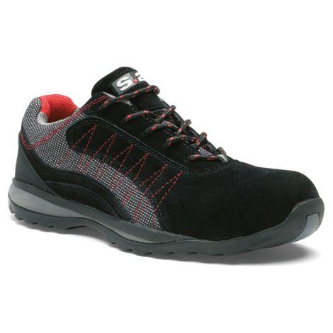 Chaussure basse ZEPHIR S1P - S 24 BOSSI INDUSTRIE - Cuir croûte velours noir/toile grise - Taille 42 - 5122-42