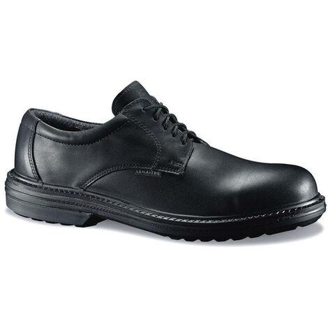 Chaussure de sécurité basse cuir Lemaitre S3 Pegase SRC 100% non métalliques Noir