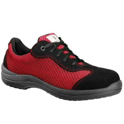 Chaussure de sécurité basse femme Lemaitre S1P Reseda SRC Rouge / Noir
