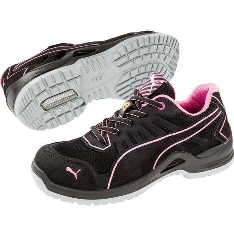 """main image of """"Chaussure de sécurité basse femme Puma Fuse Pink Low ESD S1P SRC Noir / Rose 42 - Noir / Rose"""""""