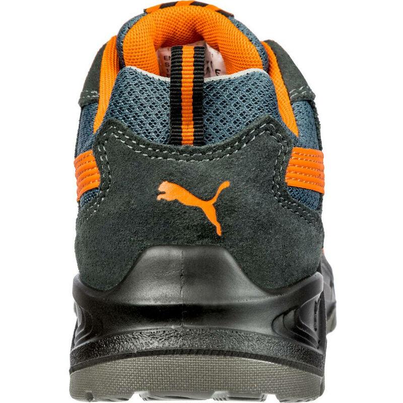 Chaussure de sécurité basse Puma Omni Orange Low S1P SRC Gris Orange