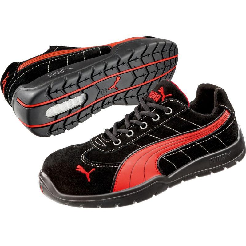 Chaussure de sécurité basse Puma Silverstone Low S1P SRC Noir Rouge