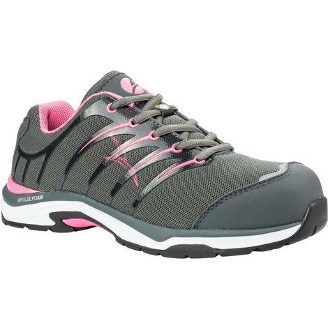 Chaussure de sécurité femme Albatros Twist Pink S1P ESD HRO SRC Gris 37