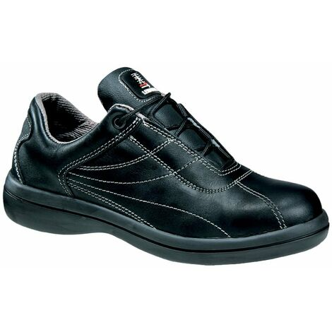 Chaussure de sécurité femme basse cuir Lemaitre S3 Nadine SRC Noir