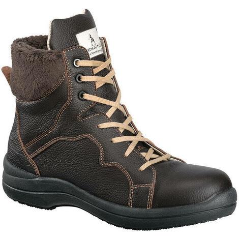 Chaussure de sécurité femme haute Lemaitre S3 Brunelle SRC Brun