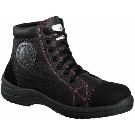 56e404f6dc5 Chaussure de sécurité haute femme Lemaitre Libert in S3 SRC Noir