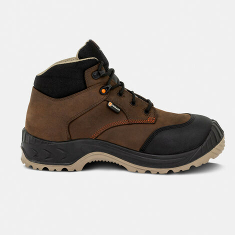 Chaussure de sécurité haute S3 Noumea cuir marron huilé