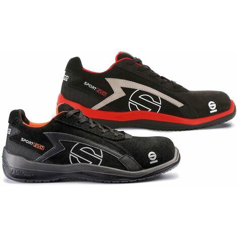 Chaussure sécurité basse Sparco Sport Evo NRNR S3 SRC Nero/Rosso 43