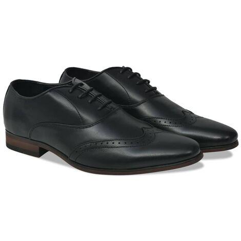 Chaussures à lacets pour hommes Noir Pointure 40 Cuir PU