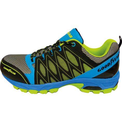 Chaussures basses de sécurité type Running SILVERSTONE T45 Jaune Bleu