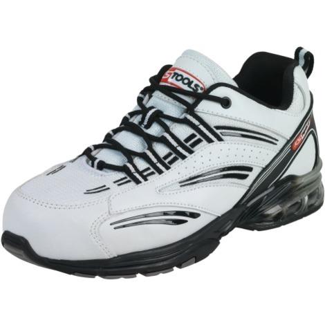 Chaussures de sécurité à coussin d'air blanche, différentes tailles