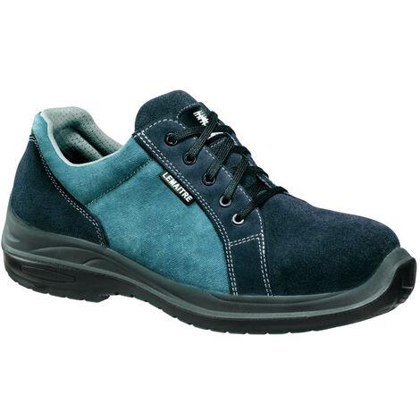 Chaussures de sécurité basses 100% non métalliques Lemaitre Wave S1P SRC Bleu