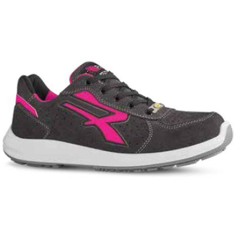 Chaussures de sécurité basses - Femme - ELECTRA S1P SRC ESD - Gris - Rose - RED UP RU20156 - U-Power - Gris - Rose - 39 - taille: 39